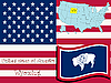 Vector clipart: wyoming state illustration