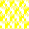 Vector clipart: yellow abstract cubes