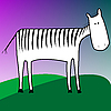 Vector clipart: drawing of zebra