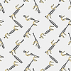 Vector clipart: baseball seamless pattern