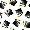 Vector clipart: movie cinema clapboard pattern