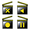 Movie cinema detailed icons | Stock Vector Graphics
