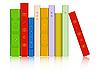 Векторный клипарт: книги в ряд