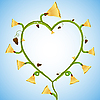 Vector clipart: flower heart