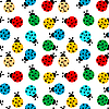 Ladybugs in colors seamless pattern | Stock Vector Graphics