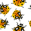 Ladybugs pattern | Stock Vector Graphics