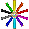 Vector clipart: pencils circle arrangement