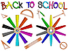 Vector clipart: pencils and school