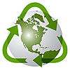 Vector clipart: recycling earth globe