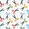 Vector clipart: scissors pattern
