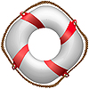 Vector clipart: twisted red life buoy