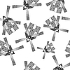 Vector clipart: wind mills seamless pattern