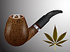 Vector clipart: wooden smoking pipe