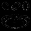 Vector clipart: 3d wireframe rings