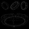 Векторный клипарт: 3d-каркас колец