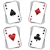 Vector clipart: aces playing cards