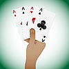 Vector clipart: poker playing cards