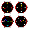 Vector clipart: clocks collection