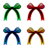 Vector clipart: ribbons colored