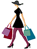 Vector clipart: shopping woman