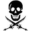 Vector clipart: pirate skull with swords