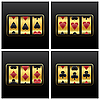 Vector clipart: playing cards slot machine