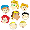 Vector clipart: children faces
