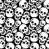 Vector clipart: skulls pattern