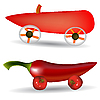 Vector clipart: vegetable cars