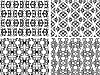 Vector clipart: black and white seamless patterns