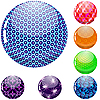 Vector clipart: glossy colorful spheres