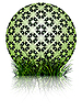 Vector clipart: green ball and grass