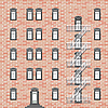 Vector clipart: house with emergency ladder