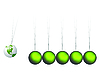 Vector clipart: newtons cradle with earth