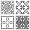 Vector clipart: monochromatic patterns
