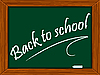 Vector clipart: school board with message