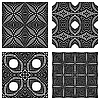 Vector clipart: seamless textures