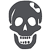 Vector clipart: skull with white bow