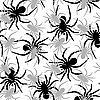 Vector clipart: spiders pattern