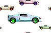 Vector clipart: sport cars pattern