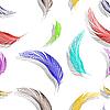 깃털 원활한 텍스처 | Stock Vector Graphics