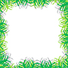 Vector clipart: green grass frame