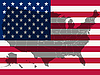 Vector clipart: united states flag and map