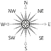Vector clipart: wind rose