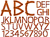 Vector clipart: wooden alphabet and numbers