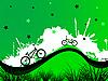 Vektor Cliparts: Hintergrund mit Fahrrädern