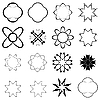 Vector clipart: black elements for design