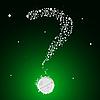 Vector clipart: bubbling question mark