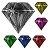 Vector clipart: diamonds