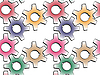 Vector clipart: gear wheels pattern